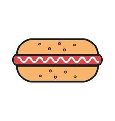 Delicious food hotdog and gastronomy theme design vector
