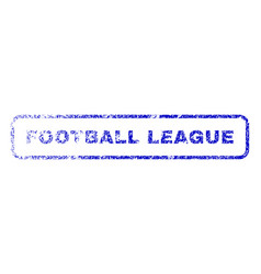 Football league rubber stamp vector