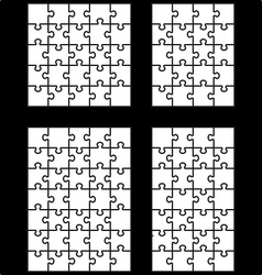 Four white puzzles vector