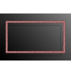 Frame red sequins rectangle glitter sparkle vector