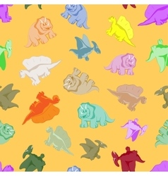 Funny colored dinosaurs vector