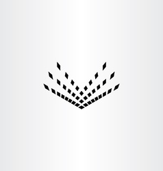 halftone book icon abstract symbol vector image vector image
