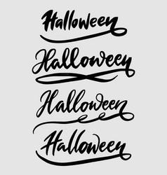 halloween hand written typography vector image vector image