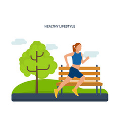 Healthy lifestyle athletics jogging on street vector