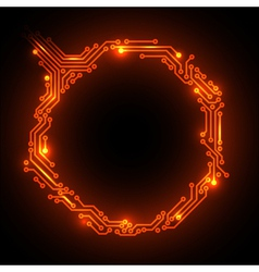 hot circuit board vector image
