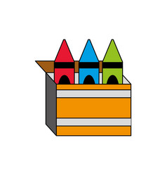 Isolated crayon box design vector