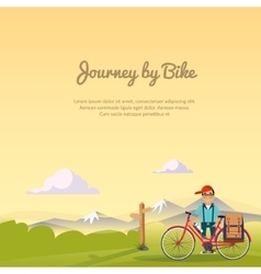 Journey by bike vector image