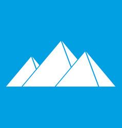 Pyramids in giza icon white vector