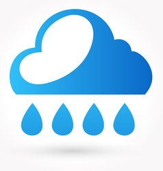 Rain and water drop icon vector