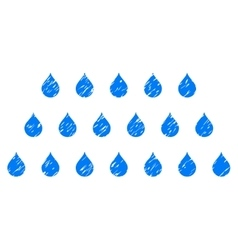 Rain drops grainy texture icon vector