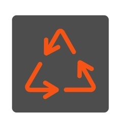 Recycle Arrows Rounded Square Button vector image vector image
