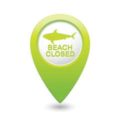 shark icon green pointer vector image