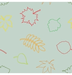Silhouette seamless leaves vector