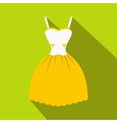 Summer dress icon flat style vector