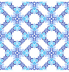 White blue background flourish pattern vector