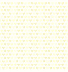 yellow heart pattern seamless vector image vector image