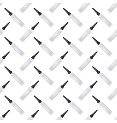 Clue Seamless Pattern on White vector image