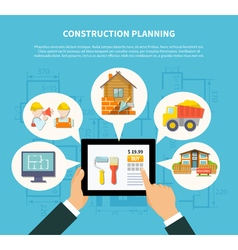 Flat construction planning diagram concept vector