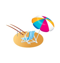 Icon parasol and chair vector