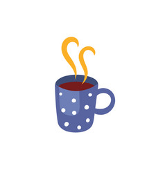 Hot beverage cup flat isolated vector