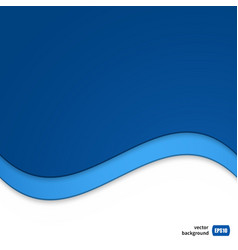 Wave template for your business presentation vector