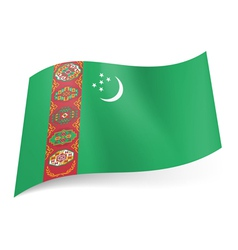 State flag of turkmenistan vector