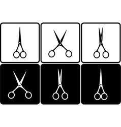 Set with scissors vector