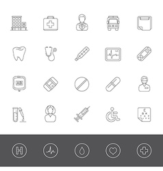 Line icons medical vector
