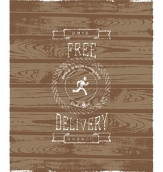Free delivery badges logos and labels for any use vector