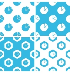 Diagram patterns set vector