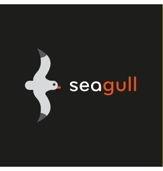 Seagull logo in stylish trend vector