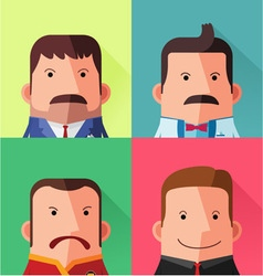 Male avatar character design vector