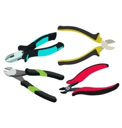 Side cutters electrical cutting pliers vector