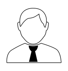 Avatar man and black tie over isolated background vector