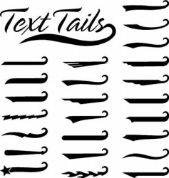 Text tails solid vector