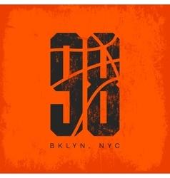 Numbered t-shirt emblem vector