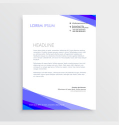 abstract purple shape letterhead design vector image vector image