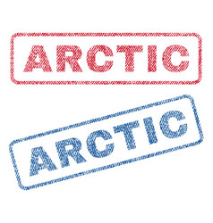 Arctic textile stamps vector