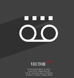 audio cassette icon symbol Flat modern web design vector image vector image