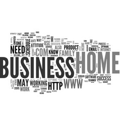 Basic steps for home business success text word vector
