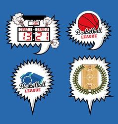basketball desing vector image vector image