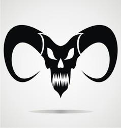 Black demon skulls vector