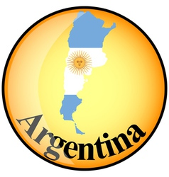 Button argentina vector