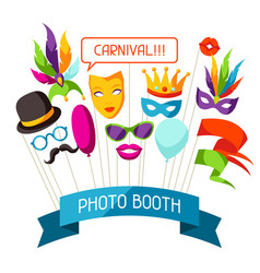 Carnival photo booth props accessories for vector