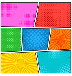 comic book page bright template vector image vector image