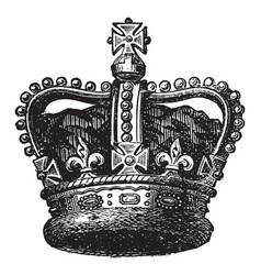 Coronation of emperors vintage engraving vector