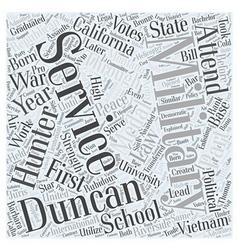 Duncan hunter republican word cloud concept vector