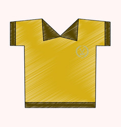 flat shading style icon golf shirt vector image