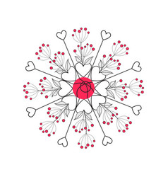 floral romantic decoration with leaves vector image vector image