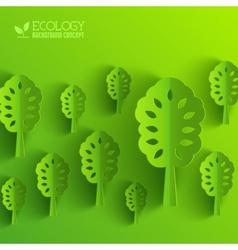 Green eco neture tree vector